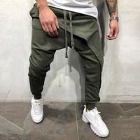 Mens rigonfio Harem Pants Hip Hop Croce pantaloni jogging causale slacciano i pantaloni a matita Pantaloni taglie forti