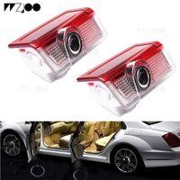 2pcs LED Porte de voiture Logo de la porte de la voiture pour Mercedes Benz W213 E Classe W212 M W166 ML Laser Projecteur Lumière Emblème Ghost Shadow Lampe Accessoires