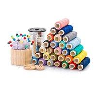 Ferramentas de Noções de Costura 60 Cores Assorted Polyester Line Spools 250 metros cada