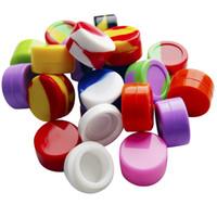 100 unids contenedores de cera caja de silicona 5 ml contenedor de silicona frascos de grado de alimento Tarjeta de almacenamiento Tarro de almacenamiento Tarro de aceite para vaporizador Vape DHL