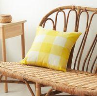 Yastık Kılıfı Moda Çizgili Yastık Kılıfı Şeker Renk Pamuk Yastık kılıfı Moda Oturma Odası Koltuk Dekorasyon WY269-2Q tutun kareli