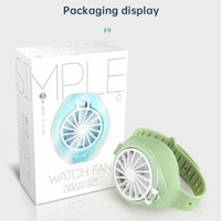 Stock 2020 Neue Kreative Mini-Uhr Einfacher Lüfter Tragbare Sommer Wiederaufladbare USB-Klapptasche Kleiner Fan Dritter Gang elektrischer DHL