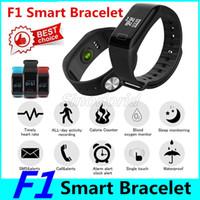 Pressione F1 intelligente inseguitore della vigilanza di fitness Wristband Heart Rate Monitor intelligente Banda F1 Smartband sangue con il pedometro Bracciale