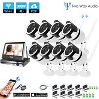 8CH Zwei-Wege-Audio Talk HD Wireless NVR-Kit P2P 1080P Indoor IR Nachtsicht Sicherheit 2.0MP IP-Kamera WIFI CCTV-System