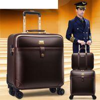 valigia bagaglio a Designeren8 del progettista famoso delle donne degli uomini unisex Spinner Espandibile Trolley modo di marca LuxuryCarry-Ons bardatura Bag Rollin