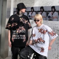Luxury Men Women T-shirt Spring and summer of new style 2020 loose fashion printed T-shirt from original brands 2 Color selected Size M-2XL