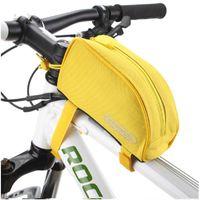 Bisiklet Çanta Roswheel 600D Polyester PVC MTB Yol Bisiklet Çerçeve Pannier Ön Üst Tüp Paketi Bisiklet Işın