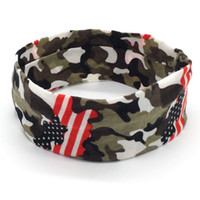 Wholesale male sports yoga hair band Camouflage stretch head...