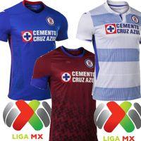 2021 Mexico Club Cruz Azul Home Blue Away Mens Soccer Jerseys Alvarado Rodriguez Pineda Escobar CD Cruz Azul Jersey Shirts Football 20 21