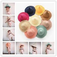 çocuklar için yumuşak çocuk hasır şapkalar güneş şapkası yaratıcı siperli şapka plaj şapkası kova şapka moda geniş brim şapka panama kapaklar