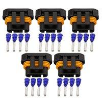 5 Imposta 4 Pin 1,5 millimetri Automotive serie Sensore di ossigeno spina del cablaggio di connettore Spina DJ7045Y-1,5-21