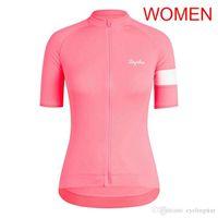 Bisiklet Jersey 2019 Rapha Takım Kadınlar Kısa Kollu Yol Bisiklet Gömlek MTB Bisiklet Giyim Nefes Hızlı Kuru Bisiklet Kıyafetleri A53006