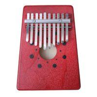 Kırmızı Kalimba 10 Anahtar Kalimba Maun Başparmak Piyano Mbira Doğal Mini Klavye Enstrüman
