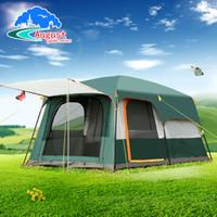 AGOSTO 5-8 personas 2 capas de sala de estar al aire libre de doble capa y 1 tienda de campaña familiar en una gran carpa espaciosa de alta calidad