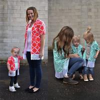 Aile Tişört Yeni Moda Kadın Bebek Çocuk Kız Bebek Aile Giyim Püsküller Tişörtler Tee Üst Anne kızı Giyim Eşleştirme