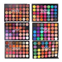 ¡Sin marca! 35 colores brillo sombra de ojos paleta impermeable mate ojo sombra crema personalizado logotipo