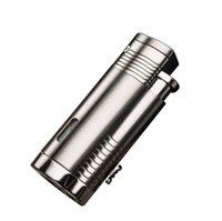 Honesto a prueba de viento Fuerte llama encendedor de cigarrillos Triple Fire Jet Metal Torch Encendedor No Gadgets de gas para Hombre Herramienta de fumar