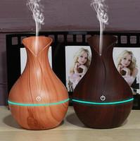 humidificador eléctrico difusor de aroma de aceite de madera de ultrasonidos humidificador de aire fresco del USB mini luces fabricante de la niebla del LED para la oficina en casa