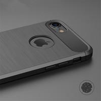 Funda de silicona ultra fina para el iPhone X XR 5S XS MAX SE 5 6 7 8 cubre 6S Plus goma de fibra de carbono