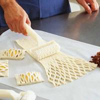 Cuisine Boulangerie rouleau blanc en plastique de cuisson outil Cookie Pie Pizza pâtisserie Lattice rouleau Cutter Craft en plastique Outils de cuisson Couteau