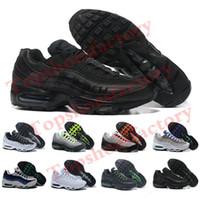 2019 남성 95S 신발 쿠션 해군 스포츠 고품질 Chaussure 95S 워킹 부츠 남자 러닝 신발 쿠션 95S 스니커즈 크기 36-46