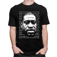 Справедливость для George Floyd T -Shirt Men Black Lives Matter I Can «T Дышите Tee Tops O -Neck короткий рукав Городские Tshirt Одежда