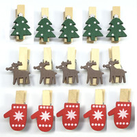 Рождество мультфильм деревянный клип мини Лось оленей перчатки форма зажим Resuable Эко дружественных памятка DIY клипы завод прямые фото держатель WX9-1158