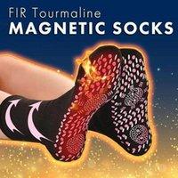 Neueste Magnetfeldtherapie Socken Komfortable Selbst Heizung Health Care Socken Turmalin atmungsaktiv Massage Winter-warme Fußpflege Socke