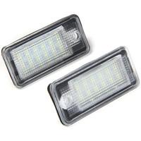 JHBK046 SMD 3528ホワイトライト18 LEDSナンバープレートランプは、A3 / S3 A4 / S4 / S4 B6  -  2PCS