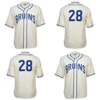 UCLA BRUINS 1940 홈 유니폼 남성 여성 청소년 야구 유니폼 더블 스티치