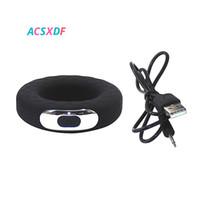 ACSXDF Big Size 42mm-Penis-Ring Silikon-vibrierende Hahn-Ring Verzögerungsejakulation Erection Verdrehsicherungsring Adult Shop-Sex-Spielzeug für Männer