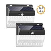 3 tarafı aydınlatma duvarla led 206 ile Açık bahçe ışık güneş güvenlik ışık güneş lamba sensörü su geçirmez hareket monte