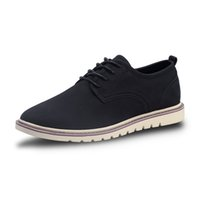 Dimensione 39-47 mucca tomaia in pelle scamosciata uomini del cuoio genuino appartamenti casuali impermeabili uomo lace up oxford scarpe per lavoro mocassini maschili * C127-A3