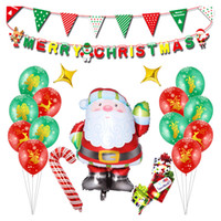Frohe Weihnachten Aluminium Luftballons 12.25 Day Xmas Ballon Set Holiday Party Dekoration