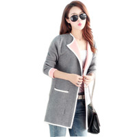 Women Spring Autumn Knitting Coat 2019 New Style Fashion Poc...