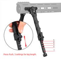 Caccia del fucile Bipod Bolt Action V9 Split BiPod Fit 21.2mm Picatinny Rail Tactical in alluminio Piedi in gomma 5 Posizionamento Angolo CL17-0045