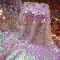 Эффективная ткань Симфония Лазерная эллиптическая большая дыня блестки кружева блестеть фон градиента