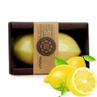 100 % 수제 천연 에센셜 오일 레몬 수제 비누 페이스 케어 화이트닝 오일 컨트롤 페이셜 청소 비누 스킨 케어의 새로운