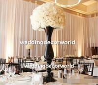 Yeni stil Altın Mumluk Metal Şamdan Çiçek Vazo Masa Centerpiece Olay Çiçek Raf Yol Kurşun Düğün Dekorasyon 483