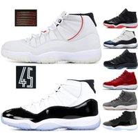 Concord 11 11s Mens Basketball Shoes Space Jam Platinum Tint...