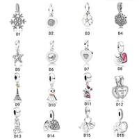 Nuevas cuentas colgantes de plata esterlina Authentic 925 se adaptan a Pandora Pulsera Charmes coloridos para la cadena de serpiente europea Collar de la moda de la moda de bricolaje