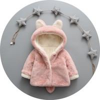 Meninas casacos de inverno quente miúdos bonitos hoodies veludo grossas para bebés crianças dos desenhos animados outerwear jaquetas 2 3 4 vestuário 5Y meninas