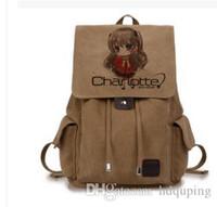 Charlotte sırt çantası Öğrenci hikaye okul çantası Tomori Nao daypack Anime okul çantası Açık sırt çantası Spor gündüz paketi Tuval çantası bilgisayar çantası