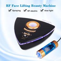 كوريا المحمولة rf الوجه رفع آلة الجمال نانو ضباب بخاخ آلة rf للجلد تجديد المنزل استخدام dhl شحن مجاني