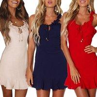 Sommer-Kleid 2020 Neue heißen Verkauf in Europa und Amerikas Mode Kleid Ärmeln Strapsen Temperament Pendler Kleid Frauen