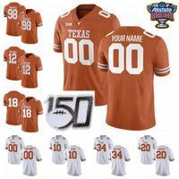 NCAA Longhorns de Texas Escuela de Fútbol jerseys Tim Yoder Jersey Joseph Ossai Malcolm Epps Ayodele Adeoye Cameron Dicker cosido personalizada