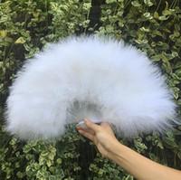 28 pièces plein fan de plume de danse du ventilateur en plume d'autruche fan spot de fournitures de vente directe d'usine pour la vente en gros