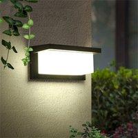 현대 LED 벽 조명 알루미늄 야외 방수 램프 정원 현관 안뜰 옆으로 정문 조명 빛 KHY-26