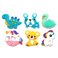 Food Grade Silicone Teethers Toys Animal Baby Ring Teether I...