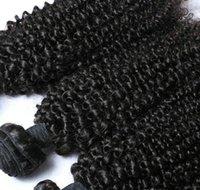 toptan 4 Paketler Brezilyalı Kıvırcık Bakire İnsan Saç Kinky Kıvırcık Saç Uzatma indirimli fiyat samanyolu örgü dokumak